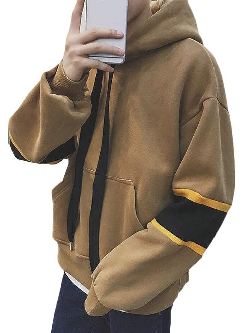 Generic Mens Relaxed Fit Hoodies Stylish Winter Fleece Pullover Sweatshirts