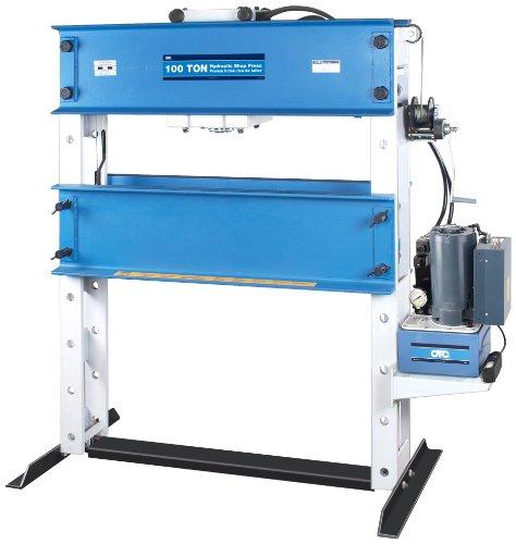 OTC 1858 100 Ton Capacity Heavy-Duty Shop Press with Electric/Hydraulic Pump (100 Shop Press Ton)
