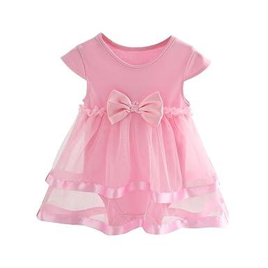 35f0efaf2da1d Brightup Bébé Fille Naissance Casual Robe de Tulle vêtements pour 0-2 Ans