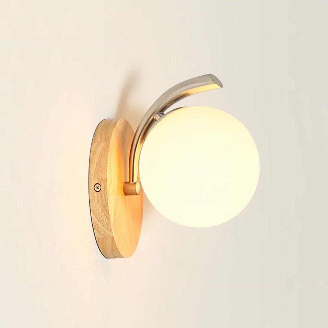 HZB Massivholz Wandleuchte Originalität Nordeuropa Moderne Wohnzimmer Gang Nachttischlampe (Größe   1lamp1820cm)