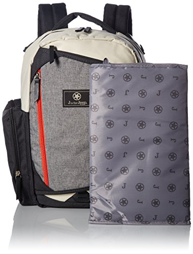 Jeep Diaper Bag (Jeep Adventurers Diaper Bag Backpack - Durable, Roomy, Design - Great for Outdoor Activities Like Hiking, Biking, and Sports - Cream, Orange, Grey)