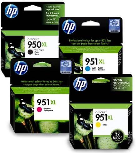 Badgerinks - Cartuchos de tinta para impresora HP Officejet Pro 8600 (4 unidades, cián, amarillo, magenta y negro): Amazon.es: Oficina y papelería