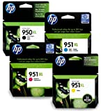 HP950XL & HP951XL Full Set of Original High Capacity Printer Ink Cartridges HP 950XL / HP 951XL - Fits HP Officejet Pro 8100, 8600, 8600 Plus,
