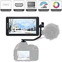 Feelworld F6 HD On-Camera Monitor, 5.7Inch IPS 1920x1080 4K DSLR HDMI Field Video Monitor With Tilt Arm, DC 8V Power Output for Canon Nikon Panasonic DSLR and Mirrorless Camera