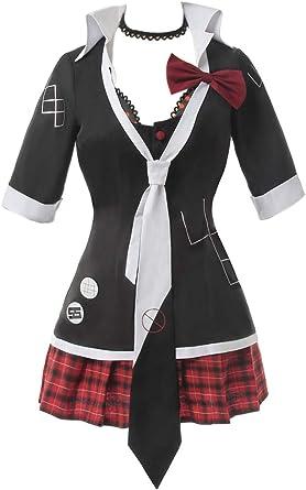 Dangan Ronpa Danganronpa Junko Enoshima Cosplay Costume Dress Outfit Wig