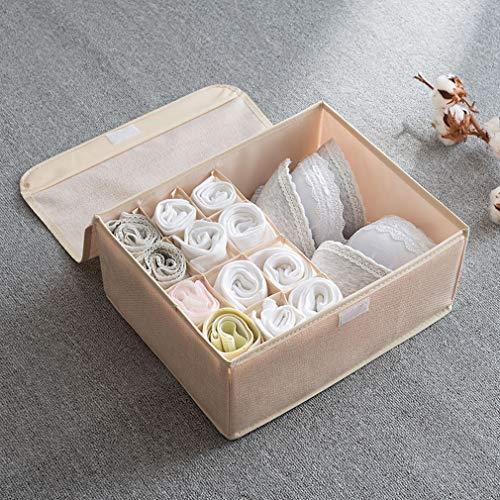 ZHANGYUFAN (2 Pack) Underwear Panties Bra Tie Storage Box Drawer Household Socks Folding Wardrobe Separator and Foldable Storage Box Drawer Organisers ()