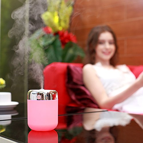 RuiQi KeJi Cool Mist Humidifier with LED light,Whisper Quiet and USB Powered for Baby/Home/Office/Car/Travel/Yoga/Spa, mini sized,180ml by RuiQi KeJi (Image #3)