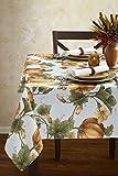Winter Garden Fabric Christmas Tablecloth, 70 Round