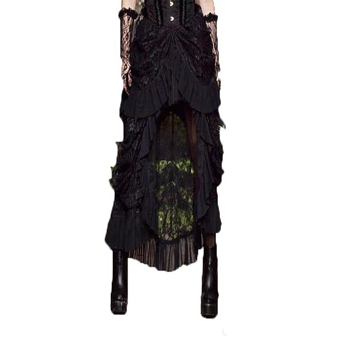 Amazon.com: Swish para mujer Steampunk elástico falda negro ...