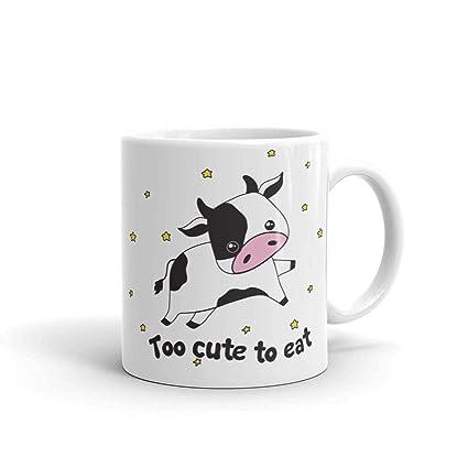 Amazon Funny Black Cow Vegan Coffee Mug