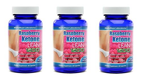MaritzMayer Raspberry Ketone Lean Advanced Weight Loss Supplement 60 Capsules Per Bottle (180) by MaritzMayer Laboratories