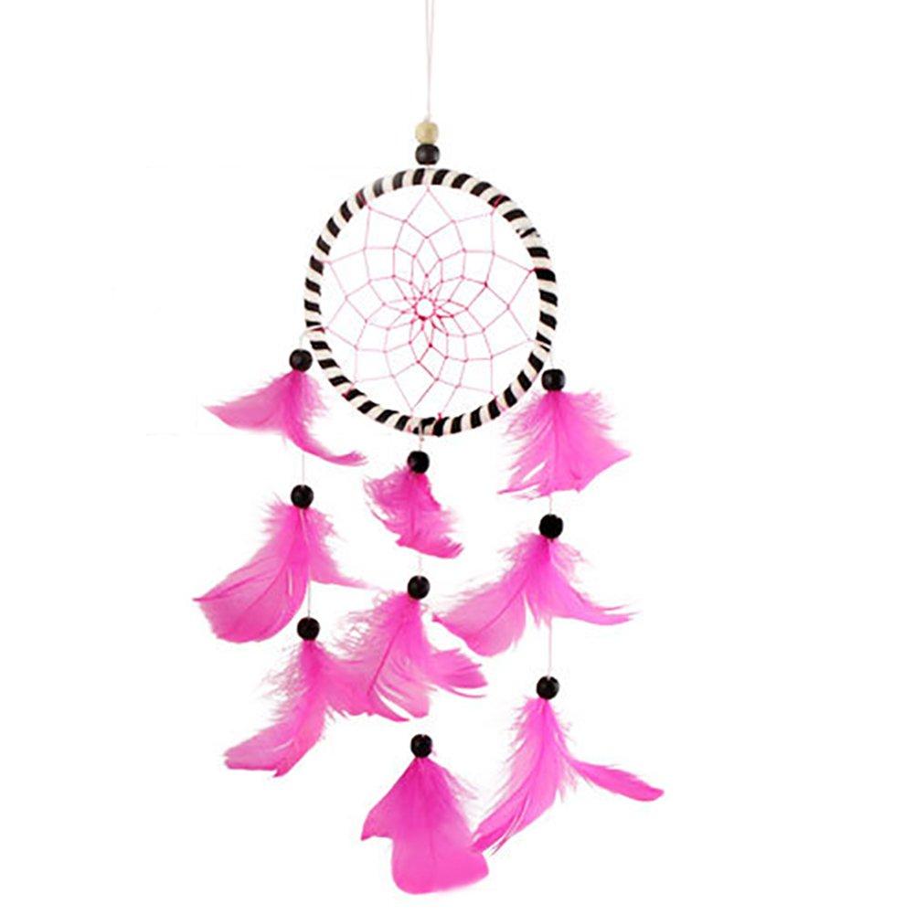 Nikgic Rose Dreamcatcher Fait Main Traditionnel Circulaire Et Mur de Décoration Intérieure Voiture Pendaison Cadeau d'Ornement