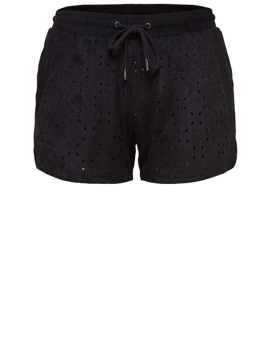 Only Women's 15116893BLACK Black Polyester Shorts