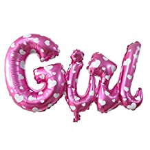 uxcell® Foil Heart Pattern Family Girl Letter Shaped Balloon Birthday Ceremony Decor 26 Inch Pink