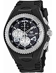 Technomarine Womens Cruise Jellyfish Quartz Stainless Steel and Silicone Casual Watch, Color:Black (Model:...