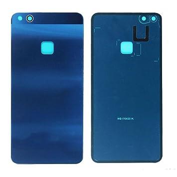 Glass Carcasa Tapa De Bateria Back Cover Piezas De Recambio Para Huawei P10 Lite (Azul)