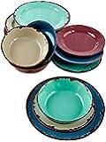 12-Pc. Rustic Melamine Dinnerware Set