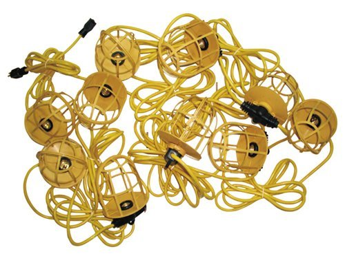 Morris 71191 Temporary String Lights with Plastic Lamp Guards, 100'