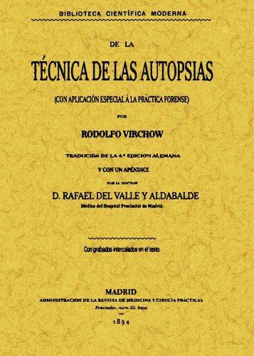 Descargar Libro Técnica De Las Autopsias Rudolf Virchow