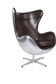 Amazonde Pre Order Grün Lederaluminium Eggchair Replica