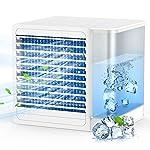 Mini Condizionatori portatili, aria condizionata portatile USB, Ventilatore portatile regolabile a 2 velocità, serbatoio… 51hpK3ds1nL. SS150