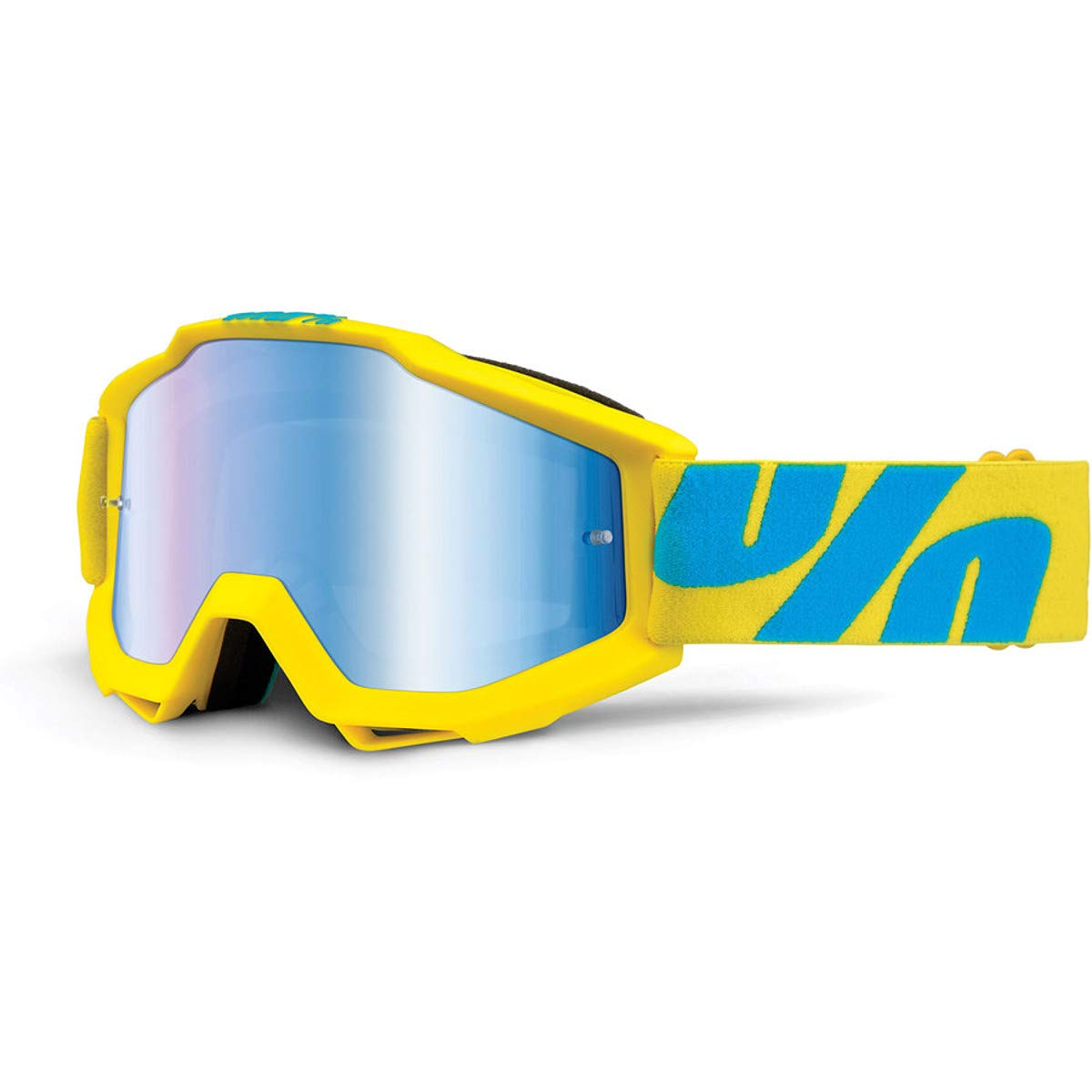 100% Accuri Adult Off-Road Motorcycle Goggles - Fiji/Mirror Blue Lens/One Size