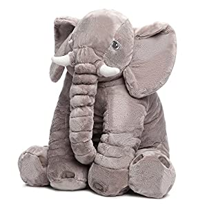 MorisMos Elephant Stuffed Animal Toy Plush Gifts Toy for Kids Gift 24 inch (60x45x25cm)