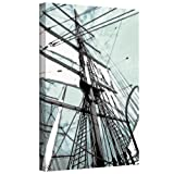 ArtWall Sailing on Star of India II Gallery Wrapped Canvas Artwork by Linda Parker, 32 by 48-Inch
