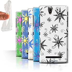 STUFF4 Gel TPU Phone Case / Cover for Sony Xperia C3 / Pack (14 pcs) / Sun/Sunshine Pattern Collection