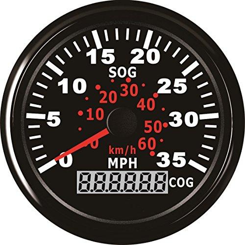 35 Mph Speedometer (ELING GPS Speedometer Speedo Gauge 0-35MPH For Boat Yacht Vessel 3-3/8'' (85mm) 9-32V)