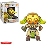 "Funko Orisa: ~6"" Overwatch x Deluxe Deluxe POP! Games Vinyl Figure + 1 Video Games Themed Trading Card Bundle [32280]"