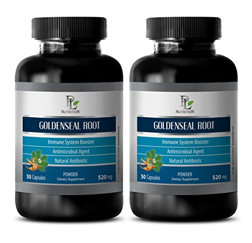 immune support tablets - GOLDENSEAL ROOT 520MG - goldenseal leaf powder - 2 Bottles (120 Capsules) by PL NUTRITION