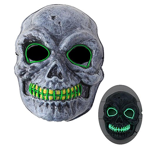 2017 Halloween Kids Wire Light Up LED Skeleton Rave Cosplay Mask (Rave Halloween Costumes 2017)