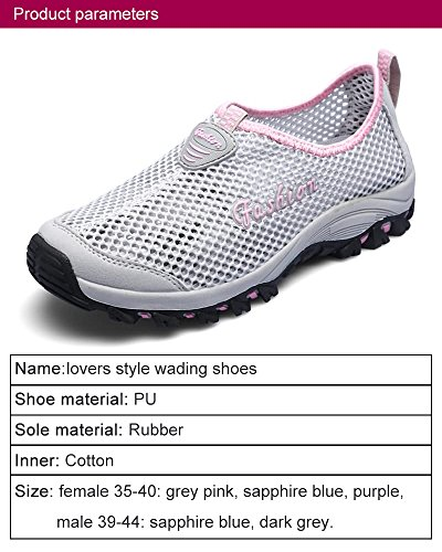 Sneaker Wading SDIiLAN Lightweight Walking Trekking Grey Pink Shoes Shoes Unisex Outdoor Hiking Breathable for r8rw7q