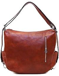 Roma Hobo Leather Saddle Bag Crossbody Convertible Shoulder Bag