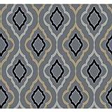 Candice Olson Inspired Elegance Diva Wallpaper Color: Steel Blue/Caramel/Black/Pewter