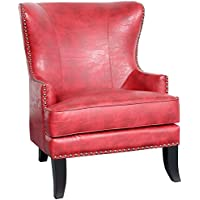 Porter Designs ACL564 Grant Red Accent Chair, One Size