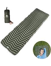 Unigear Camping Isomatte, Aufblasbare Luftmatratze Camping, Schlafmatte für Outdoor, Feuchtigkeitsbeständig Wasserdicht und Rutschfest (Blau)