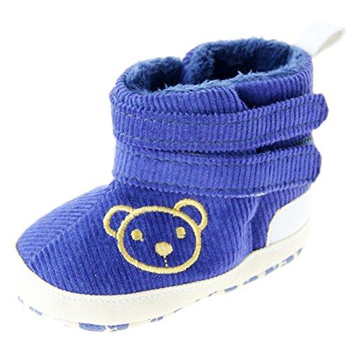 Dantiya Schuhe für 0-18 Monate Baby, Winter-weich Sohle Krippe Warm Knopf Wohnungen Cotton Boot-KLEINKIND prewalker Schuhe (11cm (0-6 Monat))