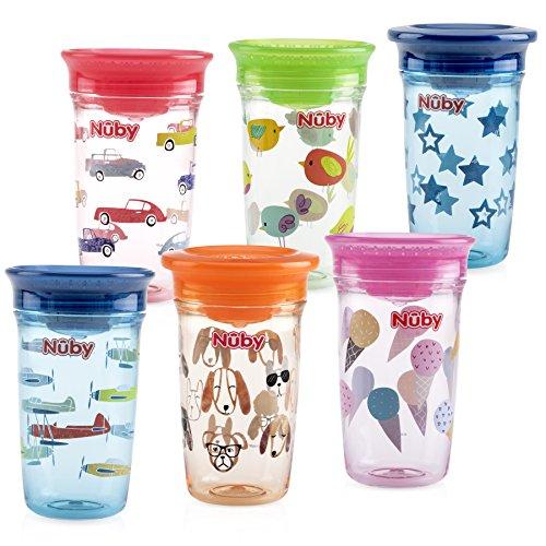 Nuby Tritan No Spill 360 Degree Printed Wonder Cup