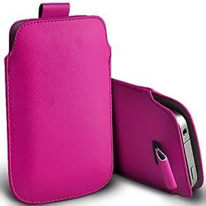 ONX3 Samsung Galaxy Ace Plus S7500 Hot Pink PU tire de la lengüeta de protección bolsa cubierta de la funda