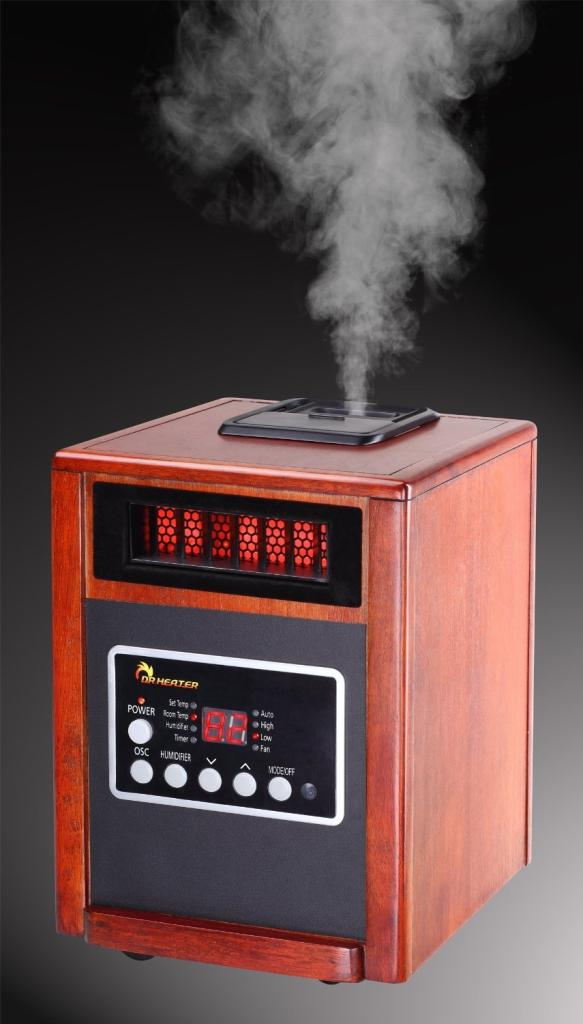Dr Infrared Heater Dr998 1500w Advanced Dual Heating System With Humidifier And Oscillation