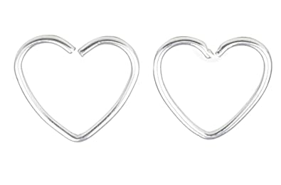 Amazon com: FB 18G 316L Surgical Steel Heart Shape Earring