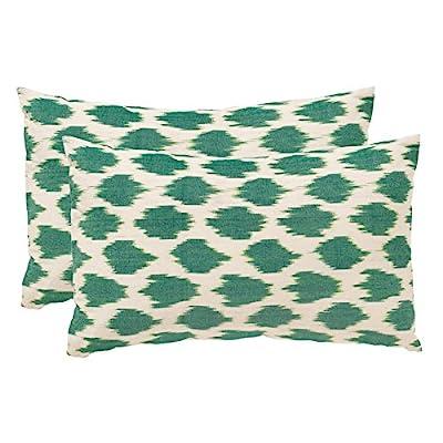 "Safavieh Pillows Collection Polka Dots Throw Pillows (Set of 2), 12"" x 20"", Aqua -  - living-room-soft-furnishings, living-room, decorative-pillows - 51hpMw11TDL. SS400  -"