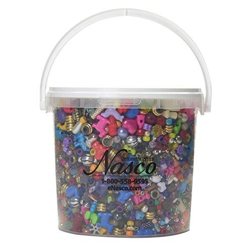 (Nasco's Bucket O' Beads and Charms - 6,500 Beads & Charms - 1,350 ft of nylon cording )