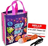 'Shopkins Happy Halloween Trick or Treat Candy Loot Bag!! Plus Bonus 'Safety First' Mini Halloween Flashlight Necklace!