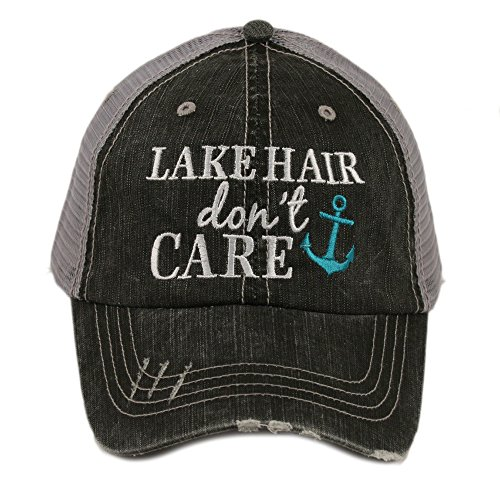 Care Caps - Lake Hair Don't Care Women's Trucker Hat Cap by Katydid