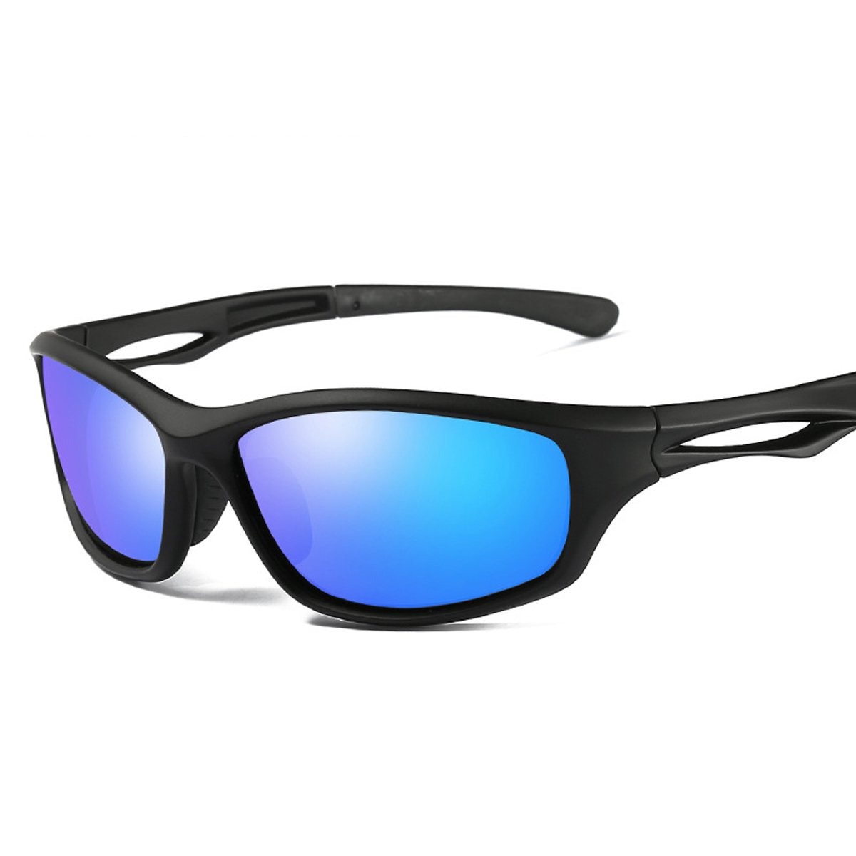GUVIVI ユニセックスアダルト B077RRNTND Black Matte Frame With Blue Lens Black Matte Frame With Blue Lens