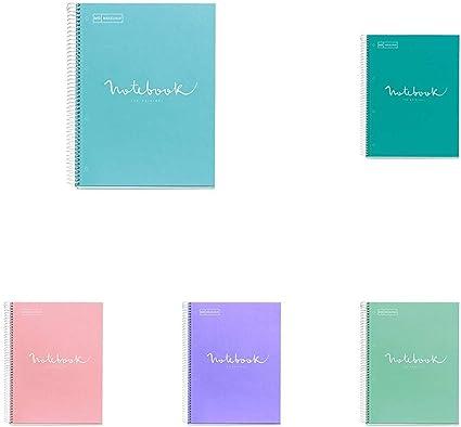 Miquelrius - Pack cuadernos Emotions de colores pastel A4-80 hojas ...