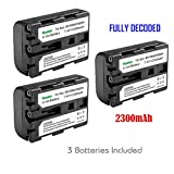 Kastar 3 X NP-FM50 InfoLithium Battery for Select Sony M Type Equivalent Camcorder/Digital Camera